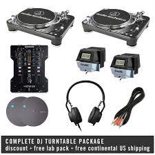 dj table for beginners audio technica complete dj turntable package turntablelab com