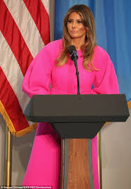 melania trump wears 3000 neon pink dress to the un daily mail