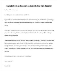 basic letter of recommendation samples 30 download free