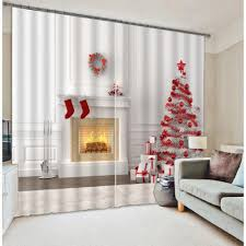 christmas tree 3d curtains