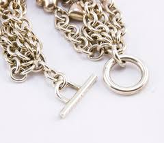 heart chain link bracelet images Tiffany co sterling silver 5 strand chain link heart toggle jpg