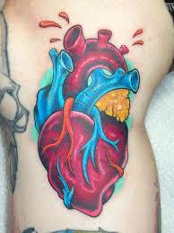anatomical heart tattoo by mark duhan tattoonow