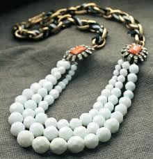 multi layered bead necklace images Fashion multi layer white beaded statement necklace wholesale jpg