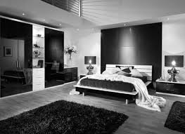 charming bedroom with modern looking furnishing with black and