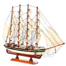 sailboat home decor diy handmade assembly ship craft wooden sailing boat wood sailboat