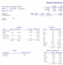 Payroll Statement Template by Pay Statement Best Template Collection