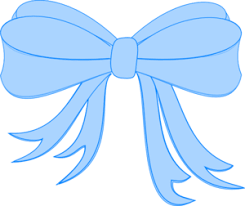 blue bows baby blue bow clipart cliparting