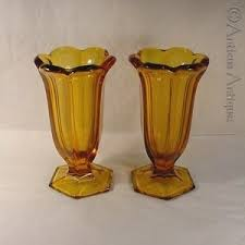 Yellow Glass Vase 170 Best Amber Depression Glass Images On Pinterest Depression