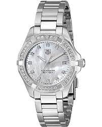 diamond stainless steel bracelet images Hot sale tag heuer women 39 s way1314 ba0915 300 aquaracer diamond