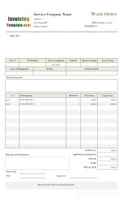 Bakery Price List Template Excel Work Order Template