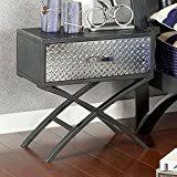 Stainless Steel Nightstand Amazon Com Metal Nightstands Bedroom Furniture Home U0026 Kitchen