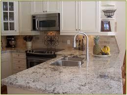 granite countertop black u0026 white cabinets black sink pot filler