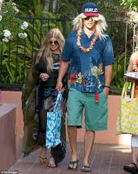 josh duhamel morphs into a surfer dude as he and fergie go to