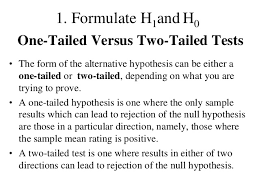 one sided one sided or one tailed tests