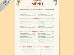 15 free menu templates word 20 free menu templates free sample