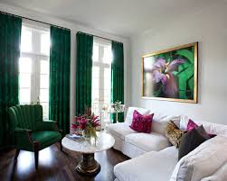 Green Curtains For Living Room by Green Curtains Houzz