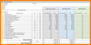 bid estimate template 8 free construction estimate template excel delivery challan