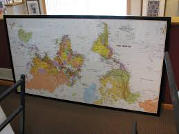 Upside Down World Map Framing Large Art