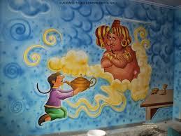 play school wall painting cartoon painting kids room painting school wall painting