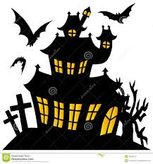 scary halloween clipart black and scary halloween house clipart clipartxtras