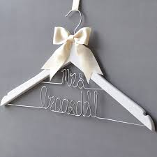 wedding dress hanger personalised dual line wedding dress hanger by clouds and currents