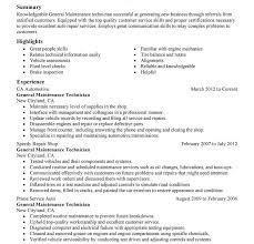 Maintenance Supervisor Resume Template Mechanic Resume Examples Resume Example And Free Resume Maker