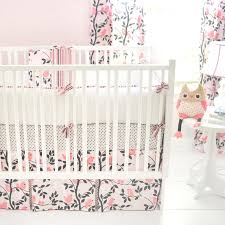 Gray And Pink Crib Bedding And Gray Crib Bedding In Nursery