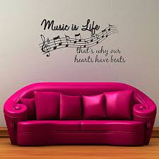 music is life that s why our hearts have beats quote vinyl wall music is life that s why our hearts have beats quote vinyl wall decal