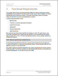 functional requirements specification ms word u0026 excel template