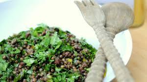 salade verte cuite recette cuisine soupe et salade de lentilles vertes du puy recettes site