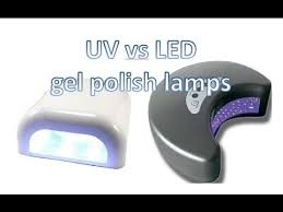 what wattage uv l for gel nails uv vs led ls for gel shellac nail polish youtube