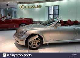 latest toyota latest models on display of toyota lexus high end luxury cars in a