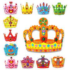 kids toys 3d eva handmade birthday crown diy hat princess crown