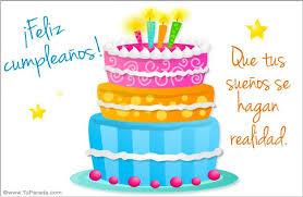 Imagenes De Pasteles Que Digan Feliz Cumpleaños   postal de cumpleaños con torta pastel cumpleaños enviar tarjeta
