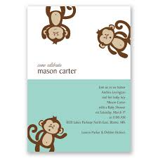 monkey business baby shower invitation invitations by dawn