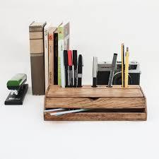Vintage Desk Organizer Vintage Walnut Wood Desk Organizer Crowdyhouse