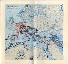 Lufthansa Route Map by Brochure Lufthansa German Airlines Boeing 727 Http Www