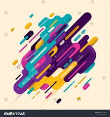 Modern Colors by Modern Style Abstraction Composition Made Various Stock Vector