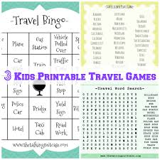 kids printable travel games printable childrens travel games