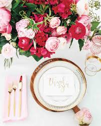 Pink And Gold Table Setting by Go Inside The Couple Behind Studio Diy U0027s Colorful California