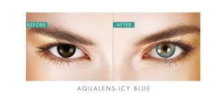 aqualens icy blue color contact lens 1 lens box rs 425