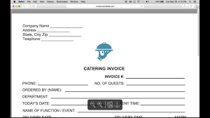 make a catering food service invoice pdf word excel youtube