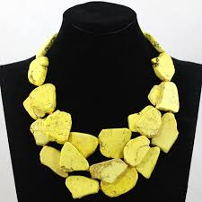 yellow necklace images Superior yellow chunky statement necklace natural stone stone bold jpg