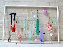 make necklace holder images Diy necklace holder picture frame jpg