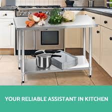 Kitchen Work Table by 304 430 Commercial Stainless Steel Kitchen Work Bench Top Food