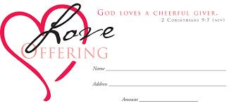 offering envelope offering 100