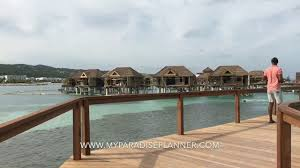 tour of the new overwater villas owv at sandals resorts youtube