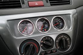 mitsubishi lancer evo 3 modification 2003 mitsubishi lancer evolution tech defi gauge installation