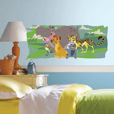 roommates 5 in w x 19 in h lion guard and friends 1 piece peel h lion guard and friends 1 piece peel and stick giant wall graphic rmk3175gm the home depot