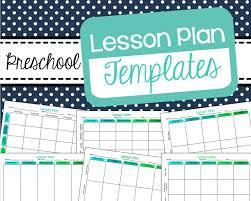 free preschool lesson plan templates the best of pre k